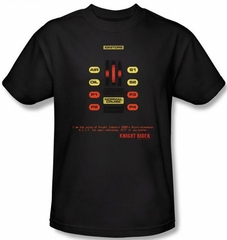 Knight Rider T-shirt Kitt Consol Adult Black Tee Shirt