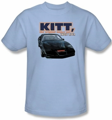 Knight Rider T-shirt Original Smart Car Adult Light Blue Tee Shirt