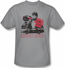 Knight Rider T-shirt Super Pursuit Mode Adult Silver Tee Shirt