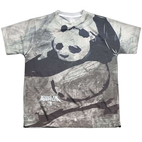5b942e66 Kung Fu Panda 3 Brushed Po Sublimation Youth Shirt - Kung Fu Panda 3 ...