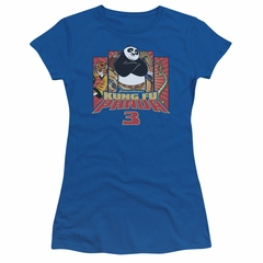 Kung Fu Panda 3 Juniors Shirt Kung Furry Royal Blue T-Shirt