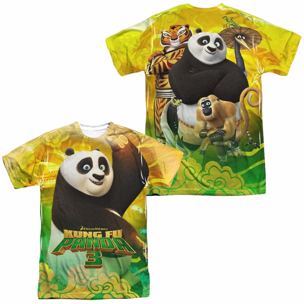 47dc4688 Kung Fu Panda 3 Po And Friends Sublimation Shirt Front/Back Print ...