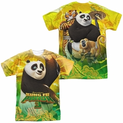 Kung Fu Panda 3 Po And Friends Sublimation Shirt Front/Back Print