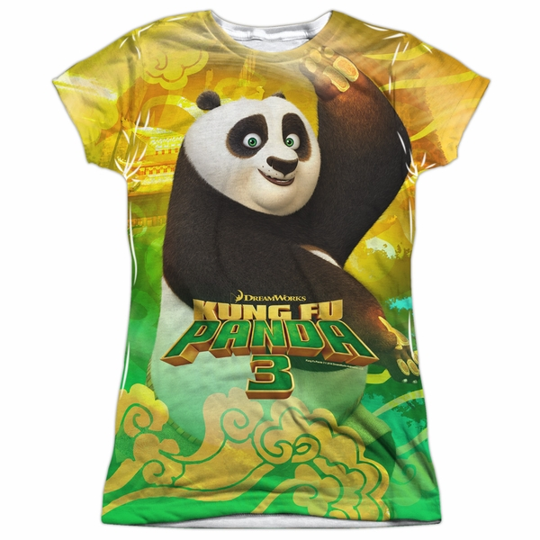 86c8e603 Kung Fu Panda 3 Po And Friends Sublimation Juniors Shirt - Kung Fu ...