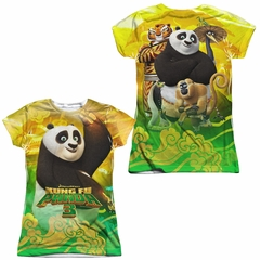 Kung Fu Panda 3 Po And Friends Sublimation Juniors Shirt Front/Back Print