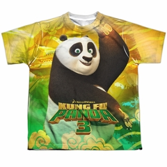 Kung Fu Panda 3 Po And Friends Sublimation Youth Shirt