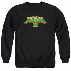 Kung Fu Panda 3 Sweatshirt Movie Logo Adult Black Sweat Shirt