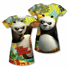 Kung Fu Panda Dragon Warrior Sublimation Juniors Shirt Front/Back Print