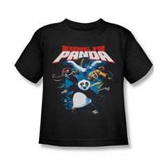 Kung Fu Panda Shirt Kids Kung Fu Group Black Youth Tee T-Shirt