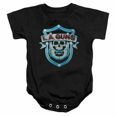 L.A. Guns Baby Romper Shield Black Infant Babies Creeper
