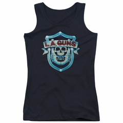 L.A. Guns Juniors Tank Top Shield Black Tanktop