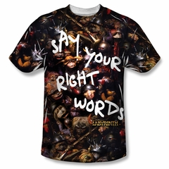 Labyrinth Right Words Sublimation Shirt