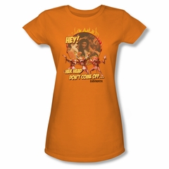 Labyrinth Shirt Juniors Head Don't Come Off Orange Tee T-Shirt
