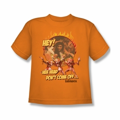 Labyrinth Shirt Kids Head Don't Come Off Orange Youth Tee T-Shirt