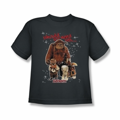 Labyrinth Shirt Kids Should You Need Us Charcoal Youth Tee T-Shirt