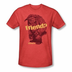 Labyrinth Shirt Ludo Friend Adult Heather Red Tee T-Shirt