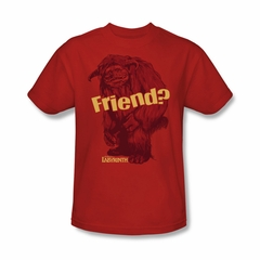 Labyrinth Shirt Ludo Friend Adult Red Tee T-Shirt
