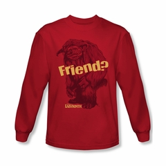 Labyrinth Shirt Ludo Friend Long Sleeve Red Tee T-Shirt