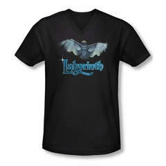 Labyrinth Shirt Slim Fit V Neck Title Sequence Black Tee T-Shirt