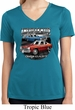 Ladies American Made Dodge Dart Moisture Wicking V-neck Shirt