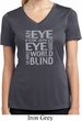 Ladies An Eye for an Eye Moisture Wicking V-neck