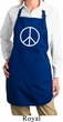 Ladies Apron Basic Peace White Full Length Apron with Pockets