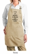 Ladies Apron Black Keep Calm Grill On Full Length Apron with Pockets