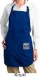 Ladies Apron Built Ford Bottom Print Full Length Apron with Pockets