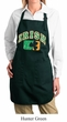 Ladies Apron Distressed Irish Shamrock Full Length Apron with Pockets