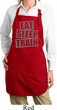 Ladies Apron Eat Sleep Train Full Length Apron with Pockets