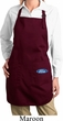 Ladies Apron Ford Oval Bottom Print Full Length Apron with Pockets
