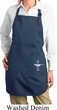 Ladies Apron Legend Lives Bottom Print Full Length Apron with Pockets