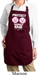 Ladies Apron Protect 2nd Base Full Length Apron with Pockets