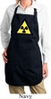 Ladies Apron Radioactive Triangle Full Length Apron with Pockets