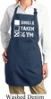 Ladies Apron Single Taken At The Gym Full Length Apron with Pockets