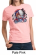Ladies Biker Shirt Big Chief Indian Motorcycle Tee T-Shirt