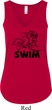 Ladies Black Penguin Power Swim Flowy V-neck Tank Top