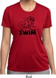 Ladies Black Penguin Power Swim Moisture Wicking T-shirt