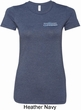 Ladies Blue Dodge Charger Pocket Print Longer Length Shirt