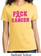 Ladies Breast Cancer Awareness Shirt F*CK Cancer Tee T-Shirt