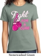 Ladies Breast Cancer Awareness Shirt Fight For a Cure Tee T-Shirt