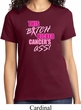 Ladies Breast Cancer Awareness Shirt Kicked Cancers Ass Tee T-Shirt