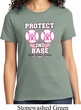 Ladies Breast Cancer Awareness Shirt Protect 2nd Base Tee T-Shirt