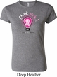 Ladies Breast Cancer Awareness Shirt Think Pink Crewneck Tee T-Shirt