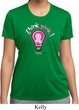 Ladies Breast Cancer Awareness Shirt Think Pink Moisture Wicking Tee