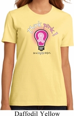 Ladies Breast Cancer Awareness Shirt Think Pink Organic Tee T-Shirt