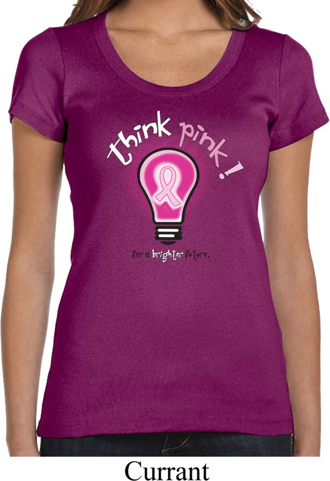 Breast Cancer Ladies T-shirt V-neck I Wear Pink For My
