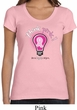 Ladies Breast Cancer Awareness Shirt Think Pink Scoop Neck Tee T-Shirt