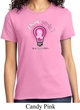 Ladies Breast Cancer Awareness Shirt Think Pink Tee T-Shirt