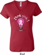 Ladies Breast Cancer Awareness Shirt Think Pink V-neck Tee T-Shirt